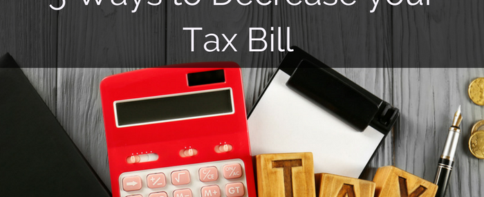 5 ways to decrease tax bill