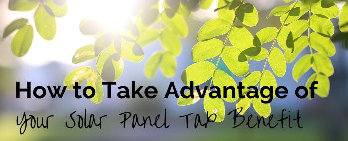solar panel tax benefit